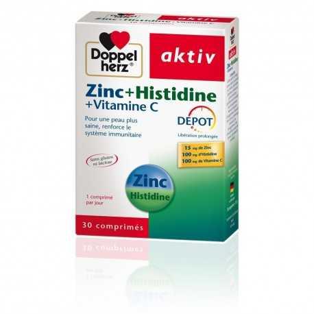D.H AKTIV Zinc Histidine Vit C Boite de 30 Comprimés
