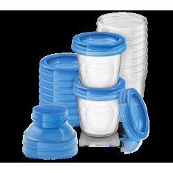 Avent Pot de Conservation du lait 10 Pièces
