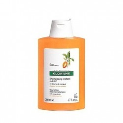 Klorane Shampoing au beurre de mangue 200ml